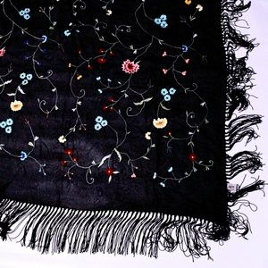 Embroidered Scarf/Shawl by Sterling Styles